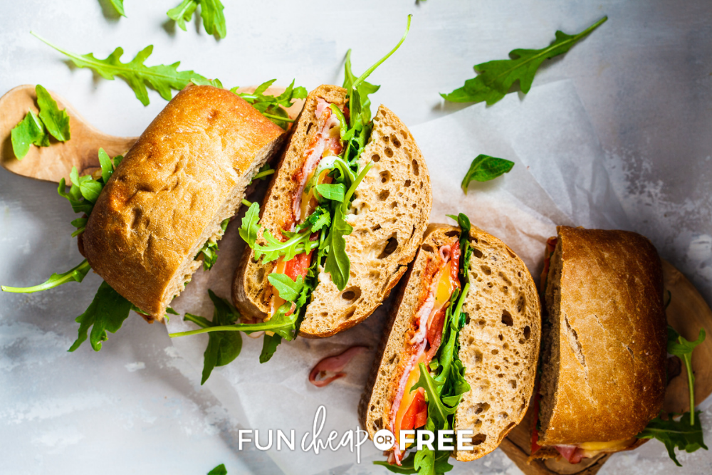 plate of turkey sandwiches, from Fun Cheap or Free