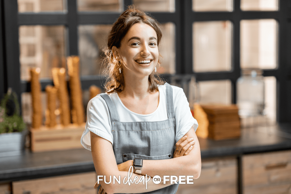 young girl working at ice cream shop, from Fun Cheap or Free