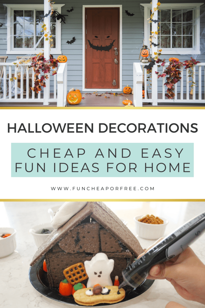 """image with text that reads """"halloween decorations"""", from Fun Cheap or Free"""
