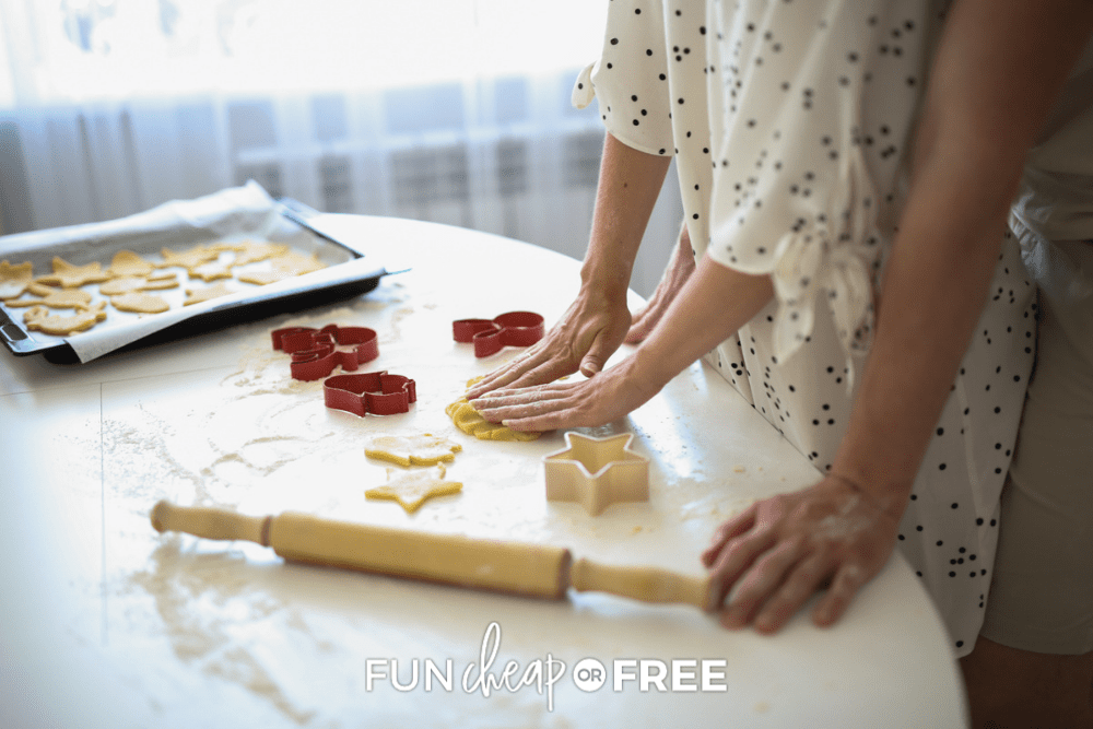 couple making cookies, from Fun Cheap or Free