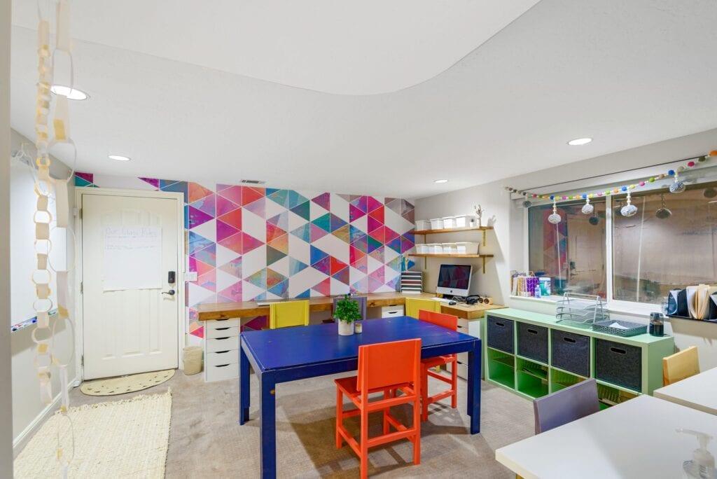 Jordan's homeschool classroom, from Fun Cheap or Free