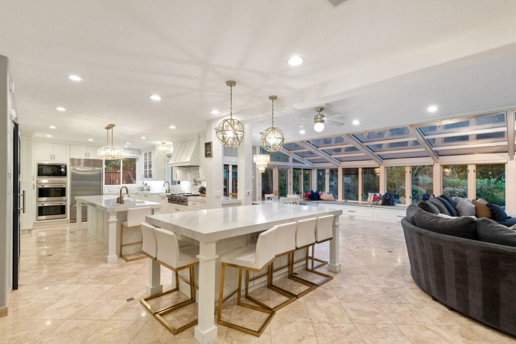 Jordan's kitchen and family room, light and bright, from Fun Cheap or Free
