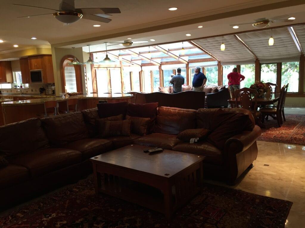 Jordan's dark family room, from Fun Cheap or Free
