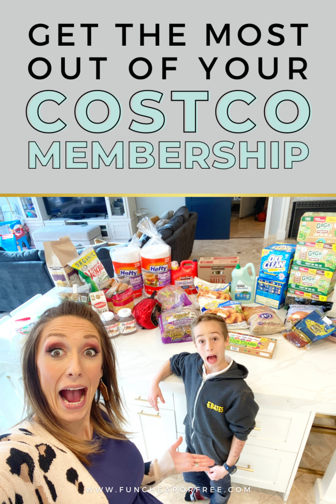 """Image with text that reads, """"get the most out of your costco membership"""", from Fun Cheap Free"""