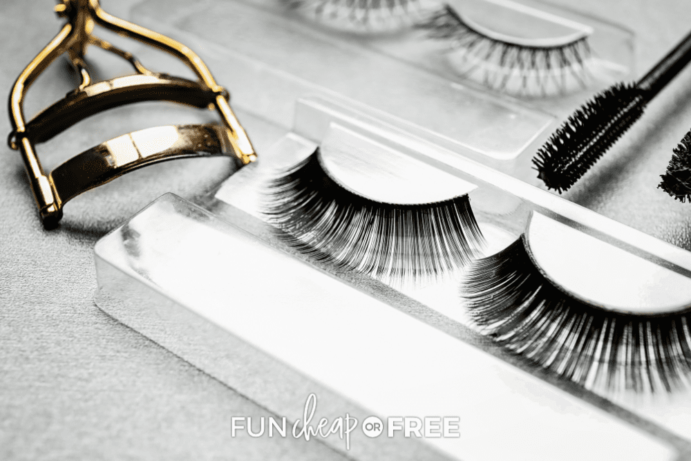 false lashes and an eyelash curler, from Fun Cheap or Free