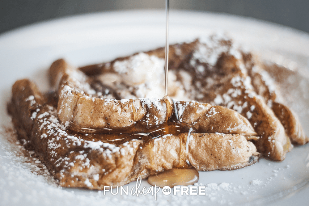 egg nog french toast, from Fun Cheap or Free