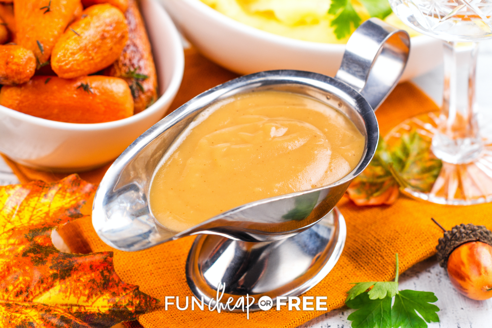 gravy in a silver gravy bowl, from Fun Cheap or Free