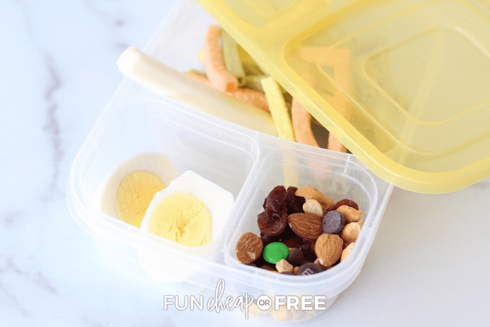 bento box with healthy snacks, from Fun Cheap or Free