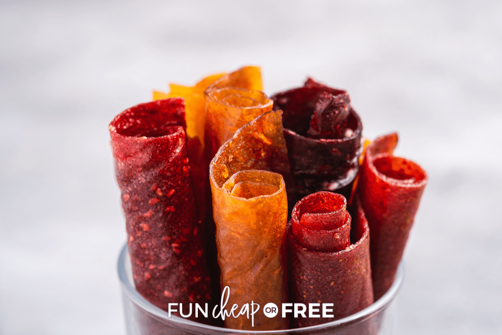 rolled up fruit leathers, from Fun Cheap or Free