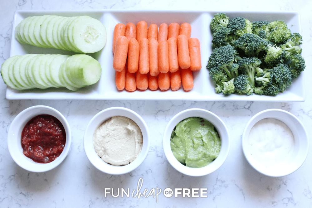 raw veggies and dip, from Fun Cheap or Free