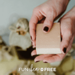 woman holding a bar of homemade soap, from Fun Cheap or Free