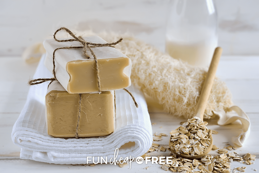 homemade bars of soap with milk and honey, from Fun Cheap or Free