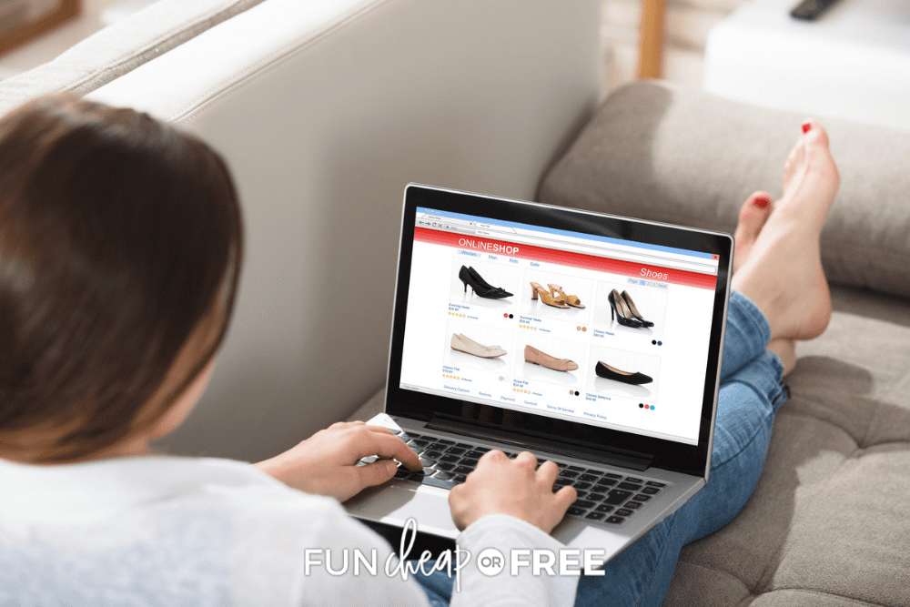 woman browsing deals on her laptop, from Fun Cheap or Free