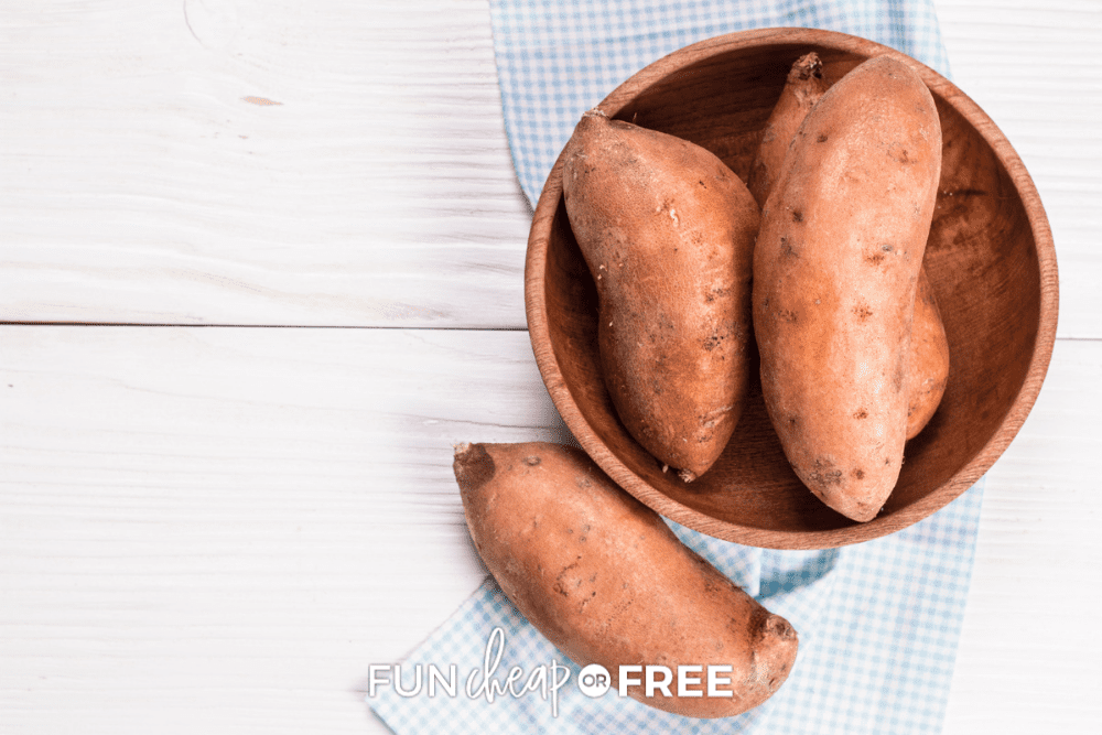 sweet potatoes in a bowl, from Fun Cheap or Free
