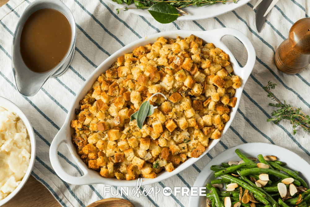 a bowl of stuffing, from Fun, Cheap or Free
