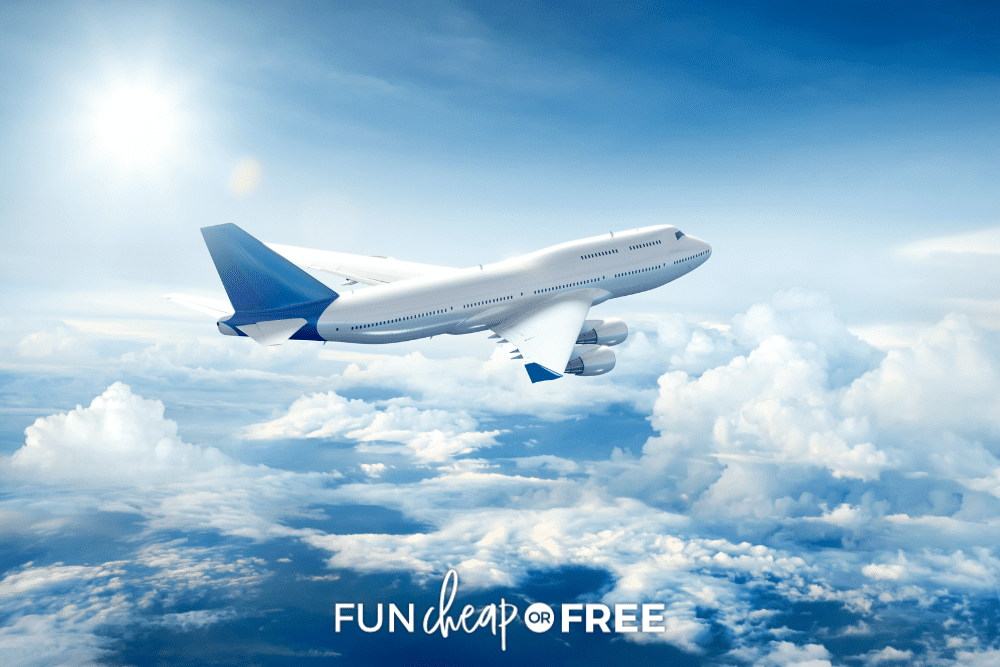 airplane flying through clouds, from Fun Cheap or Free