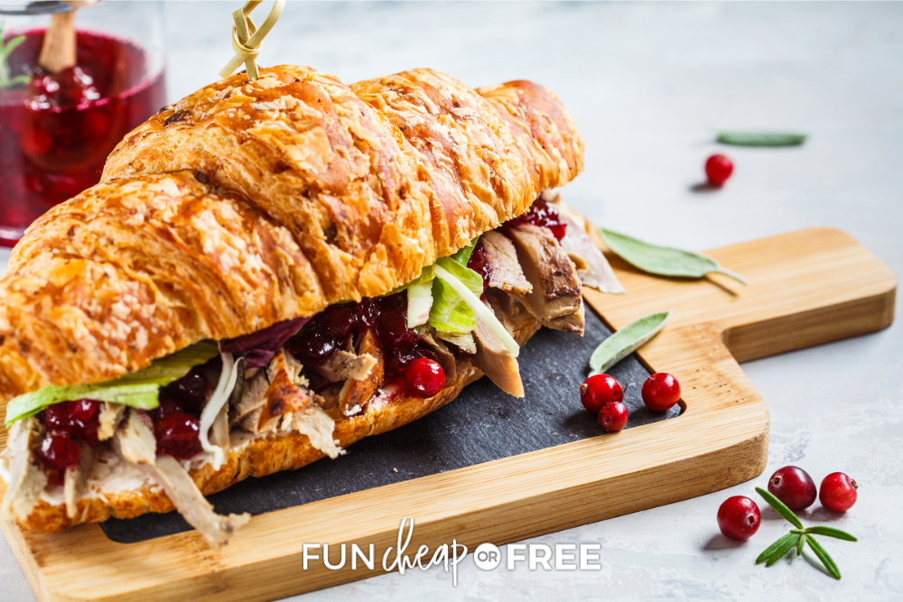 turkey sandwich on a cutting board, from Fun Cheap or Free