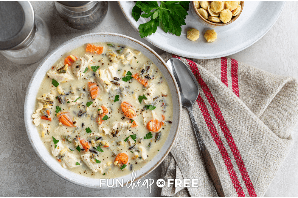 creamy turkey soup, from Fun, Cheap or Free
