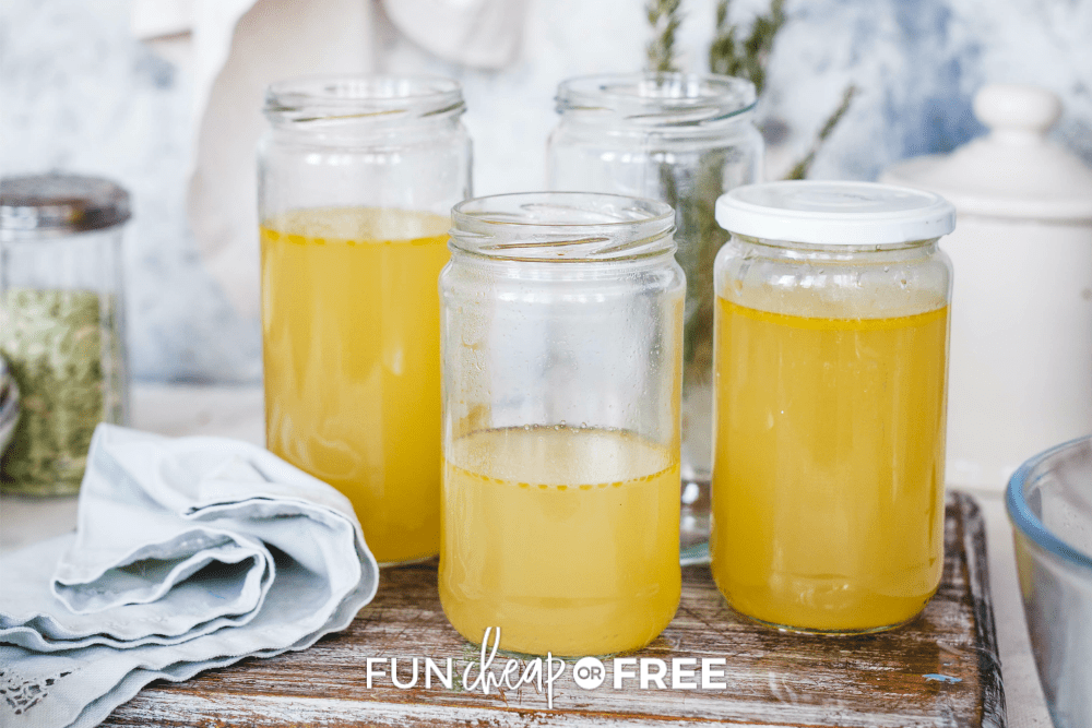 turkey stock in sealed jars, from Fun Cheap or Free