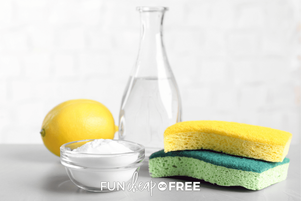 borax, sponges, lemon, and water, from Fun Cheap or Free