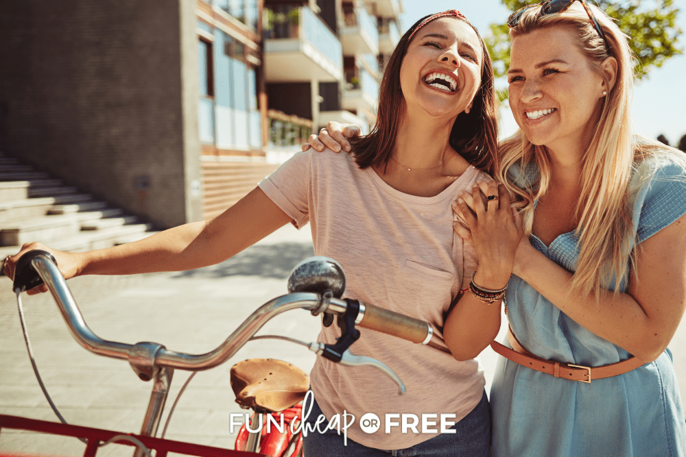 two best friends riding bikes, from Fun Cheap or Free
