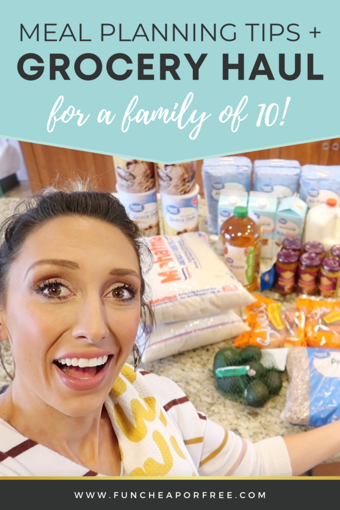 see how we grocery shop for a family of 10, on Fun Cheap or Free