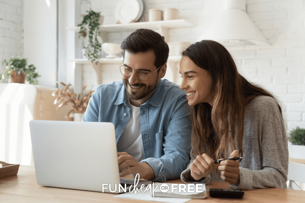 couple taking an online class together, from Fun Cheap or Free