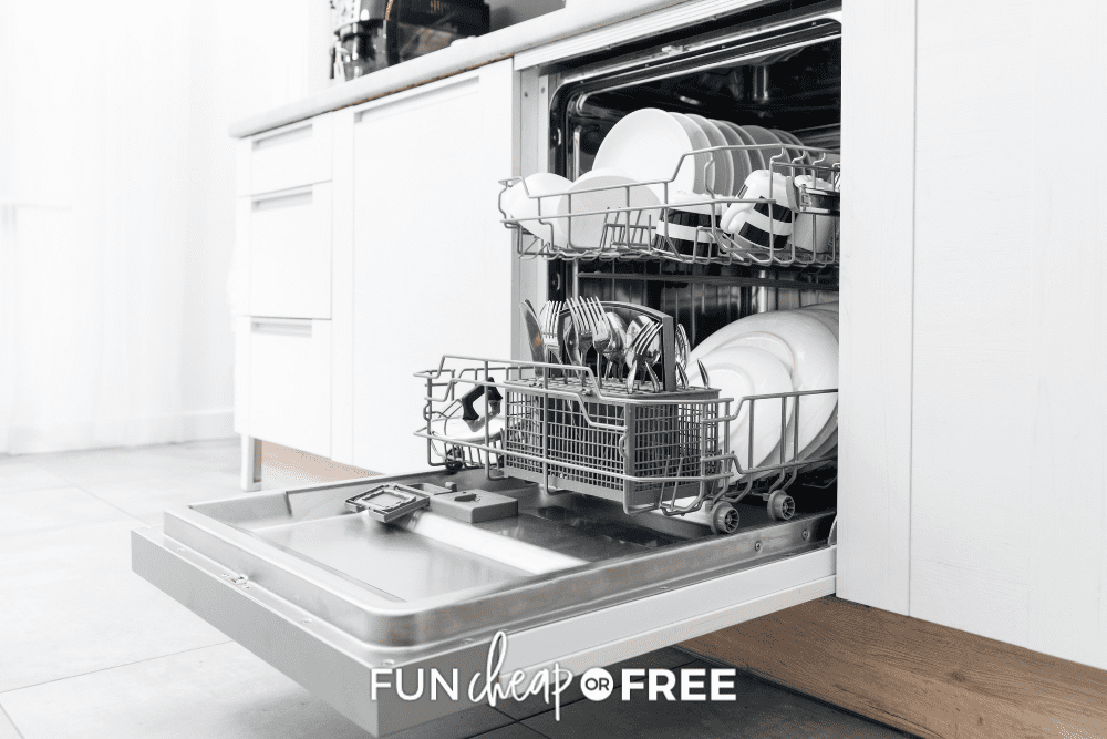 dishwasher full of clean dishes, from Fun Cheap or Free