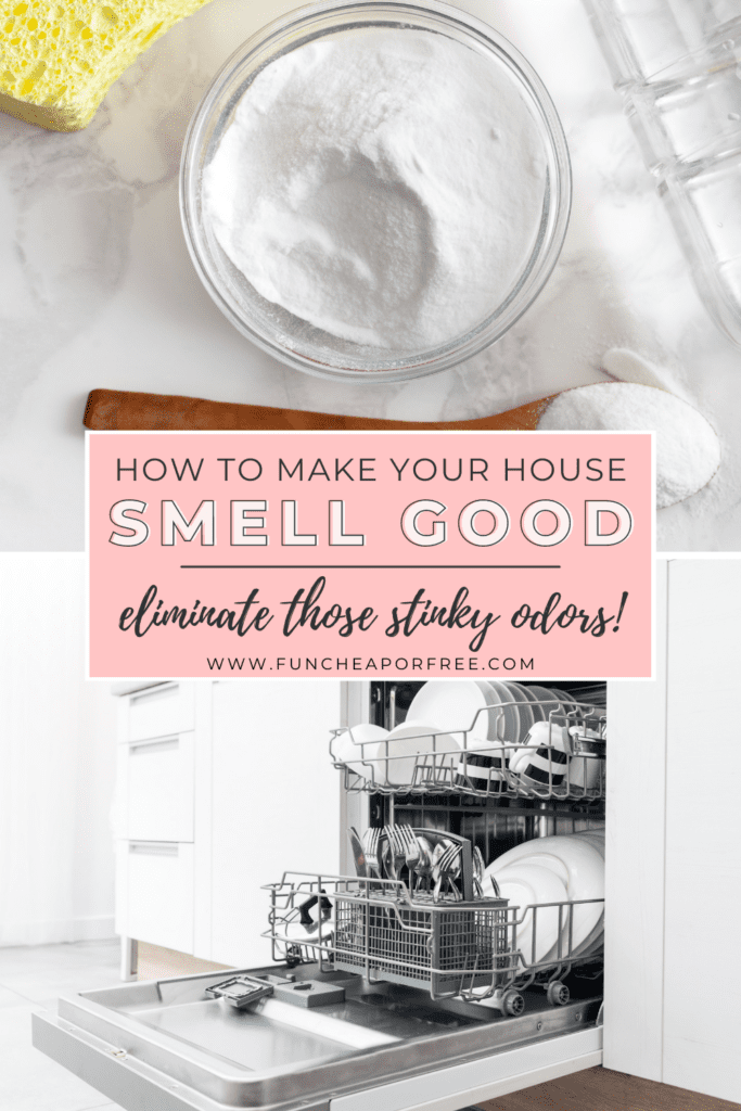 "Image with text that reads ""how to make your house smell clean,"" from Fun Cheap or Free"