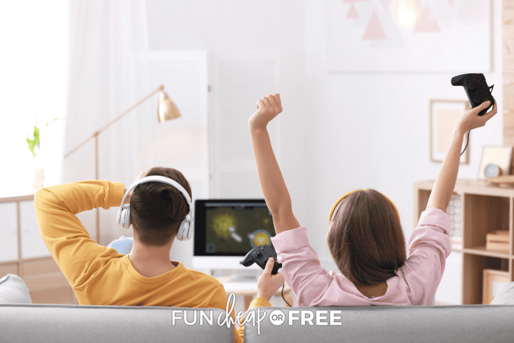 couple playing video games, from Fun Cheap or Free