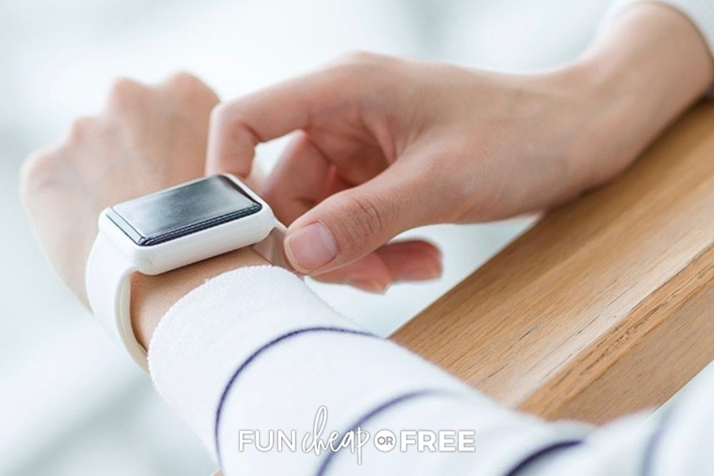 woman wearing an apple watch, from Fun Cheap or Free