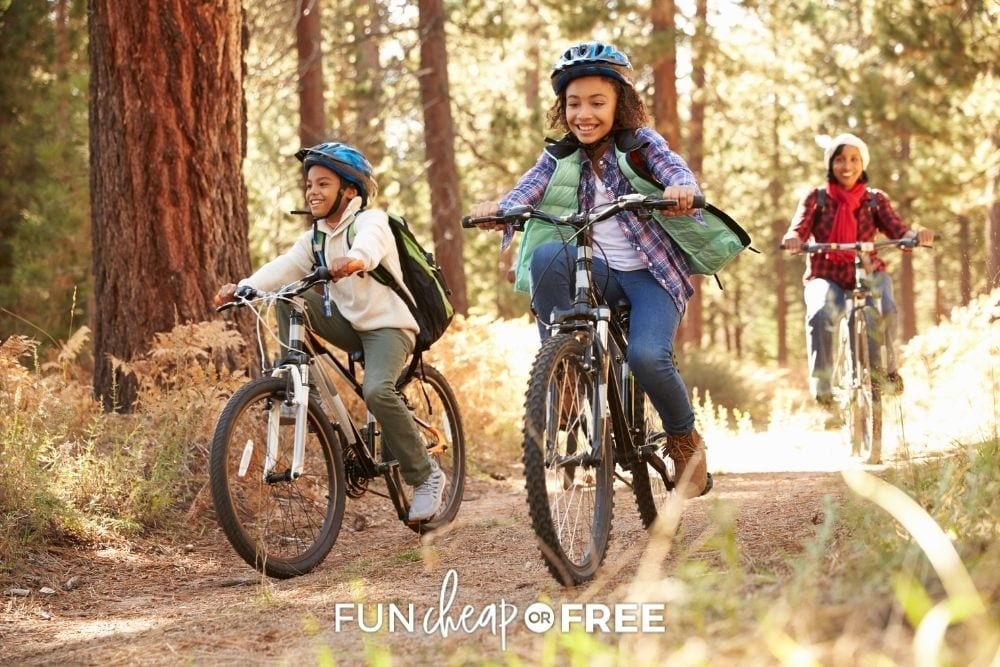 family biking, from Fun Cheap or Free