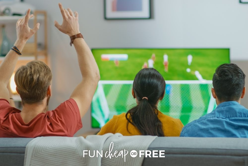 watching sports on new TV, from Fun Cheap or Free