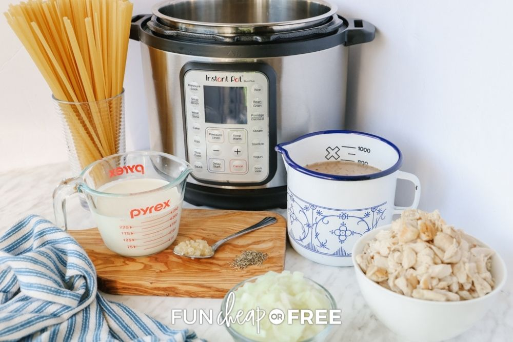 Instant pot and pasta ingredients, from Fun Cheap or Free