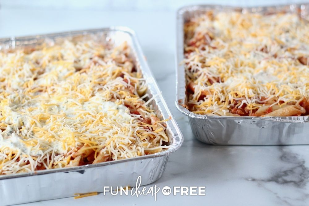 freezer pasta meals for vacation, from Fun Cheap or Free