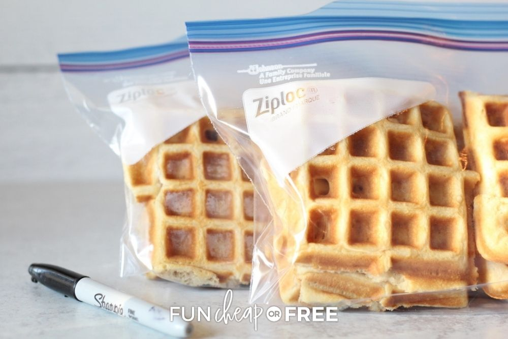 freezer waffles in bag, from Fun Cheap or Free
