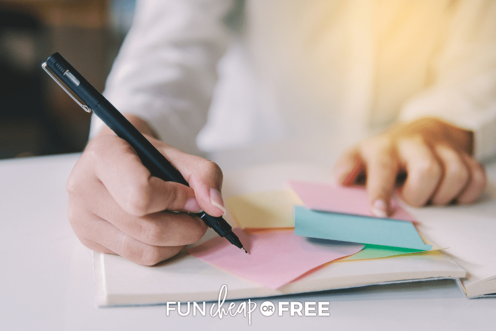 writing lunchbox notes, from Fun Cheap or Free