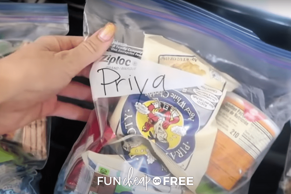 snack bag for road trip, from Fun Cheap or Free