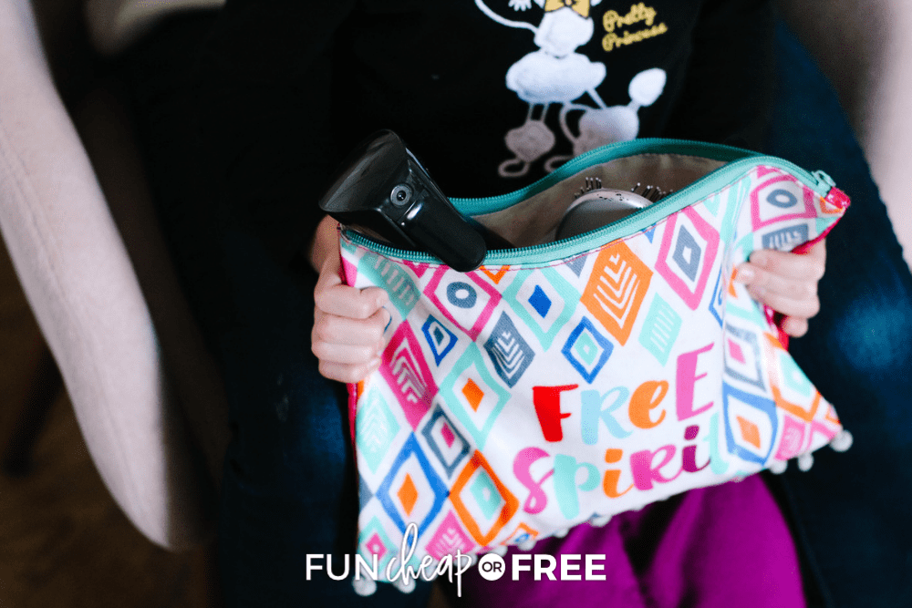 girl holding hair bag, from Fun Cheap or Free