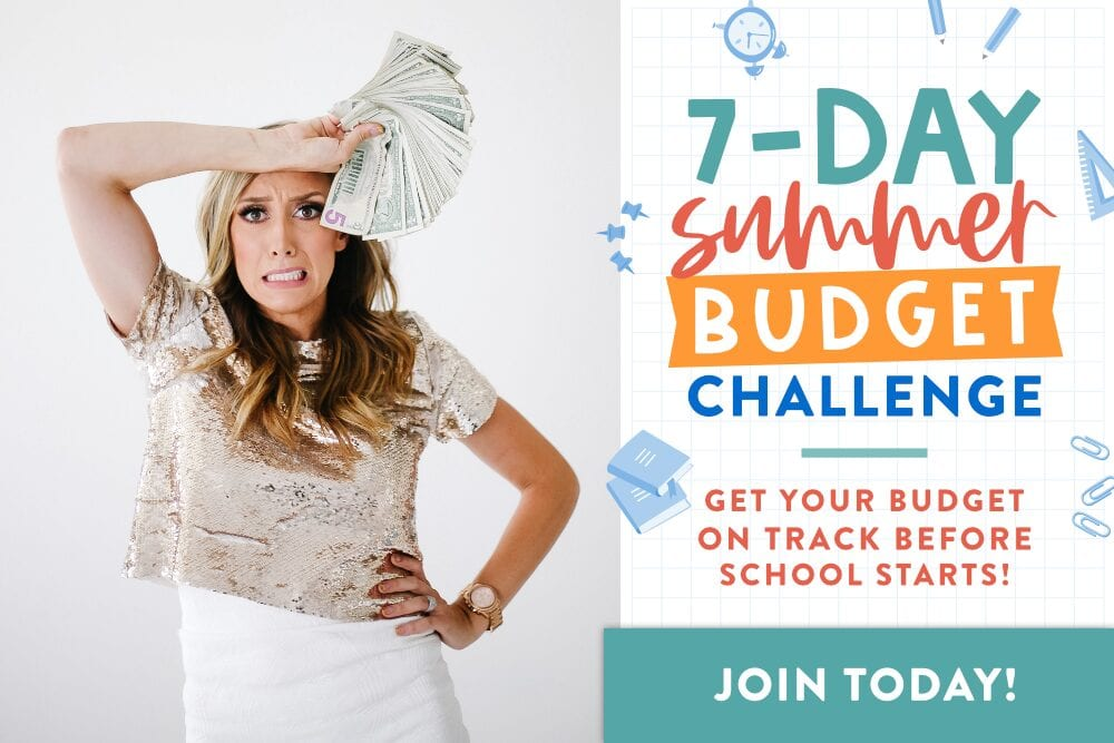 Jordan Page holding money for 7-day budget challenge from Fun Cheap or Free