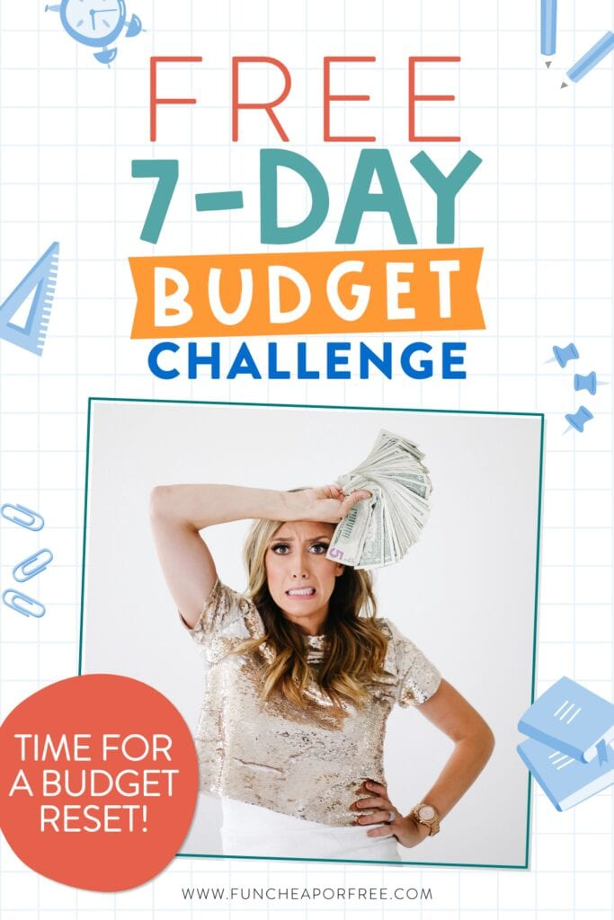 Jordan holding money from budget challenge, from Fun Cheap or Free