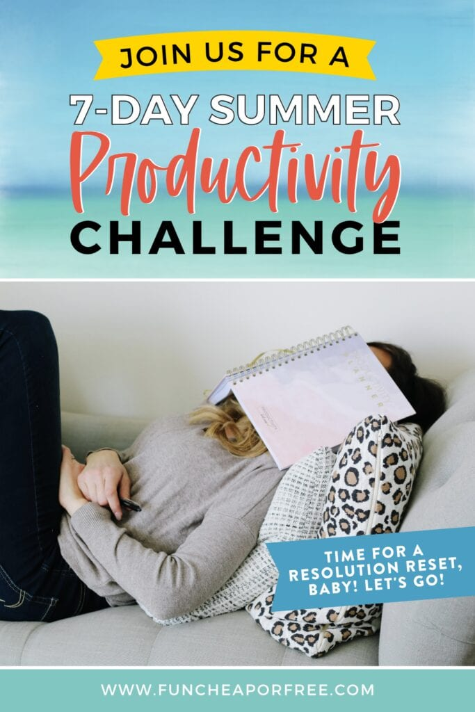 Jordan with productivity planner, from Fun Cheap or Free