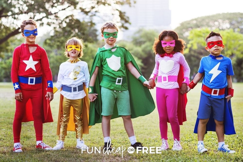 kids wearing Halloween costumes, from Fun Cheap or Free