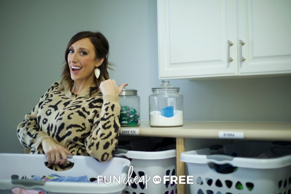 Jordan Page doing laundry, from Fun Cheap or Free