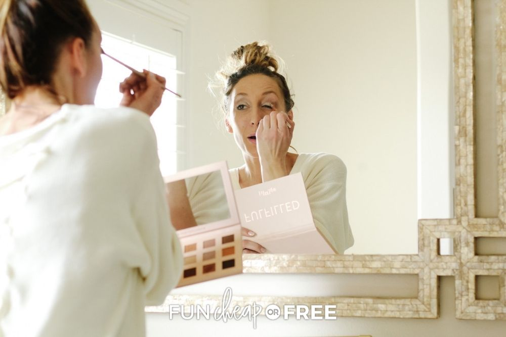 Jordan Page putting on makeup, from Fun Cheap or Free
