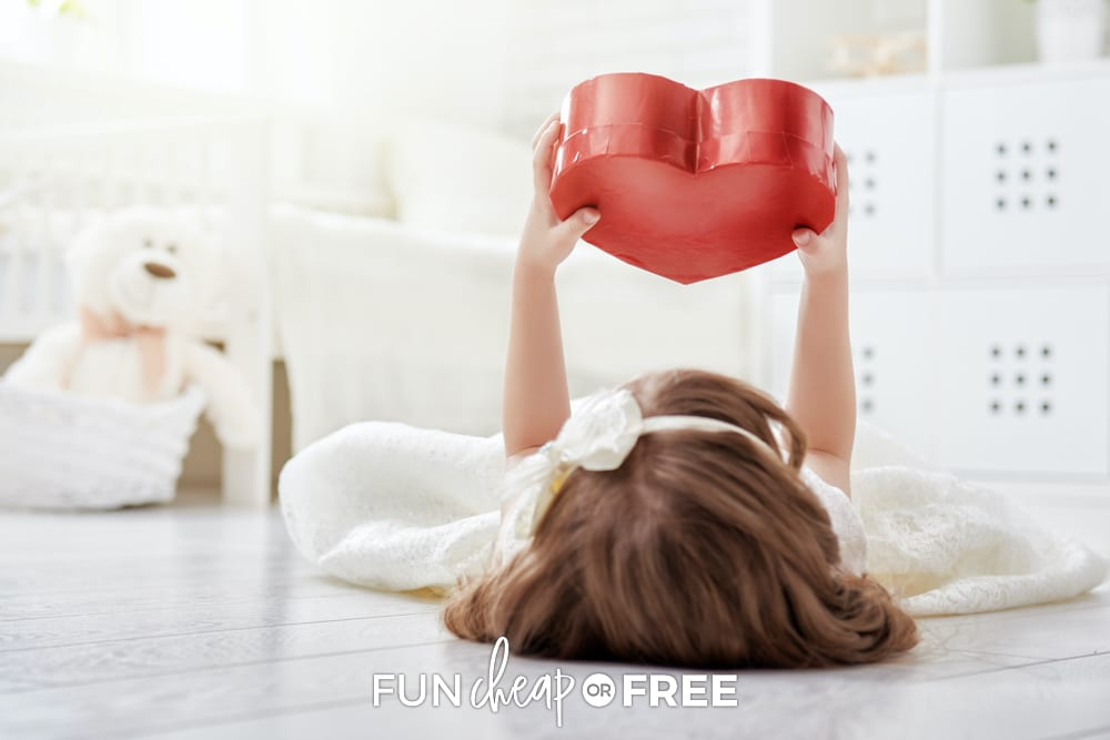 young girl holding heart, from Fun Cheap or Free