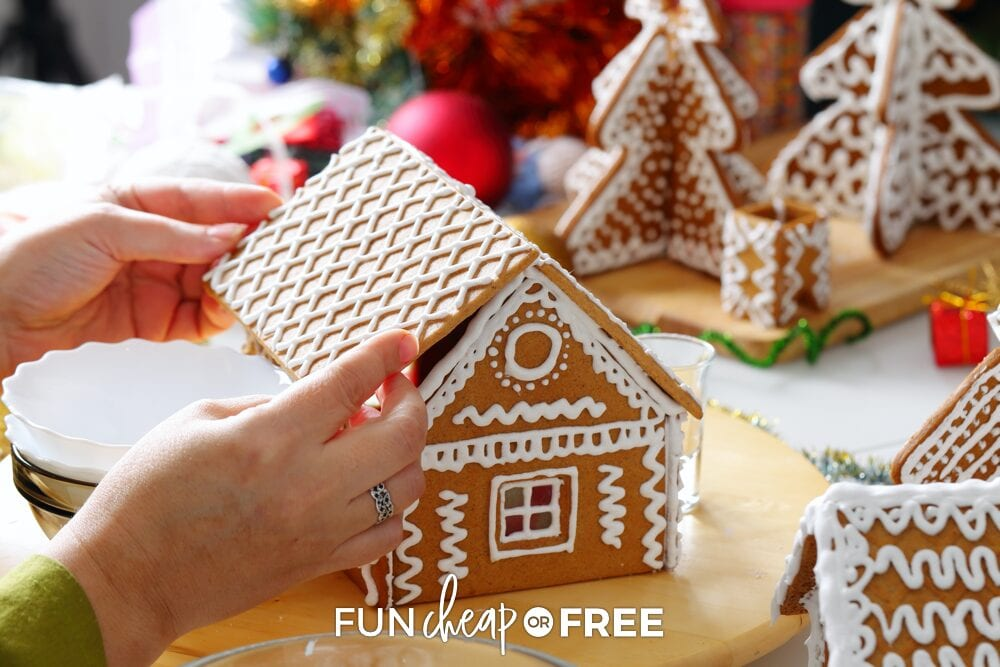 making a gingerbread house, from Fun Cheap or Free