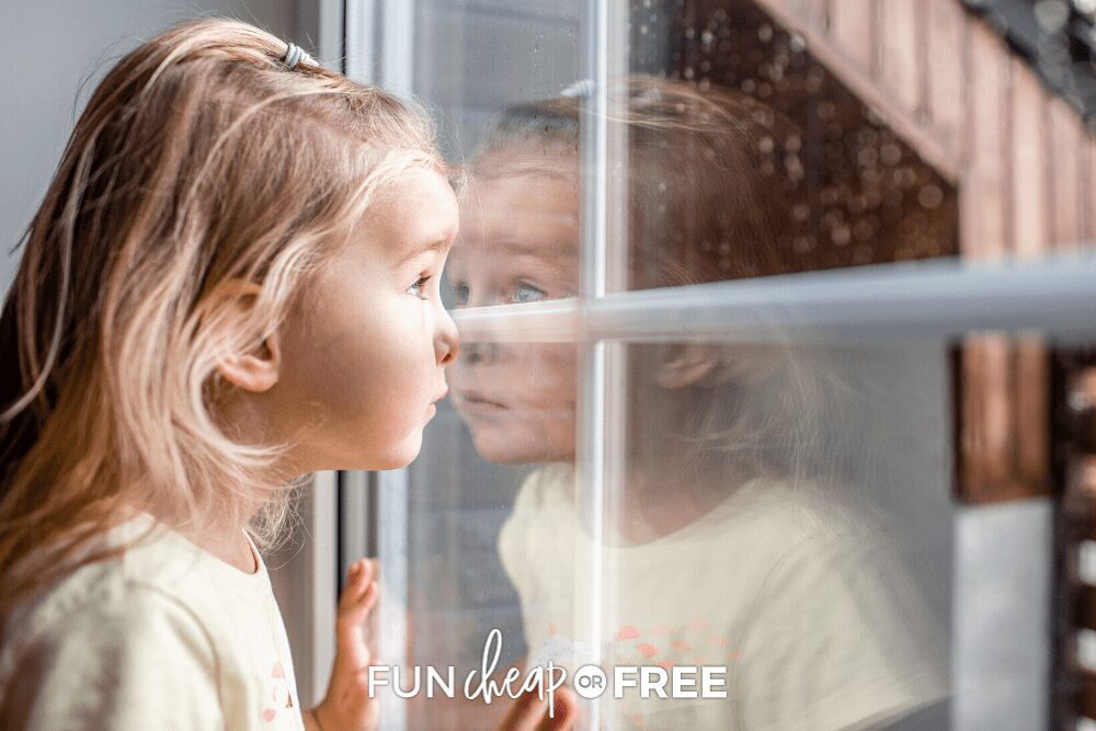 little girl looking out the window, from Fun Cheap or Free
