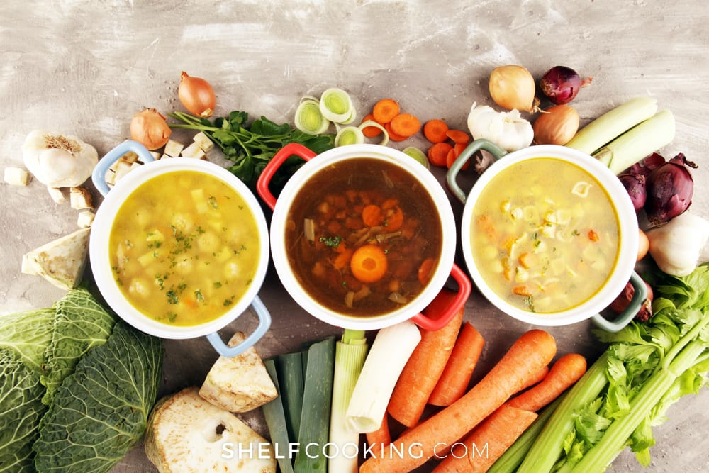 an assortment of winter soups, from Fun Cheap or Free