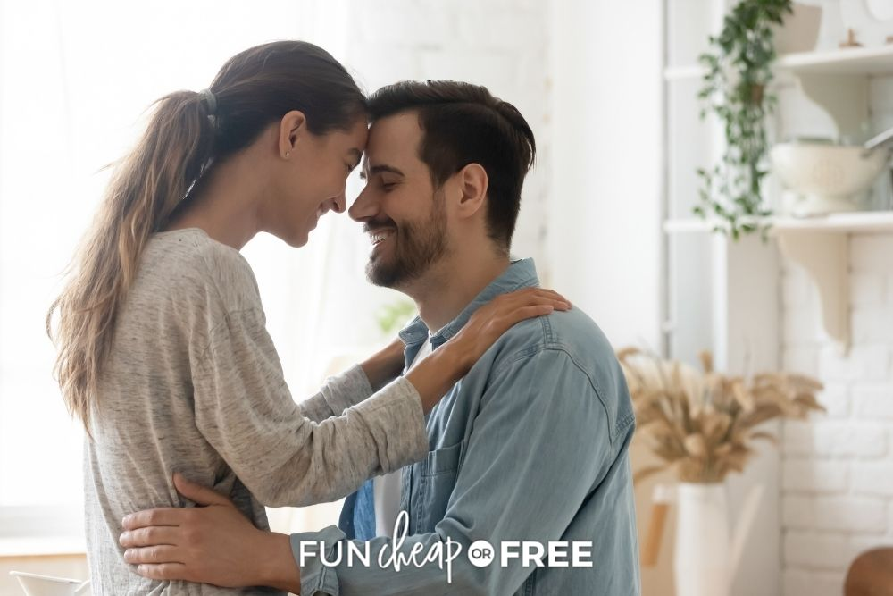 Couple holding each other lovingly from Fun Cheap or Free.